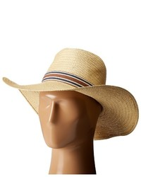 Vince Camuto Stripe Grosgrain Wide Brim Floppy Hat