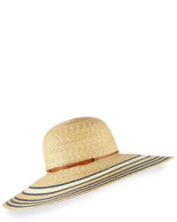 Yestadt Millinery Luna Striped Wide Brim Sun Hat