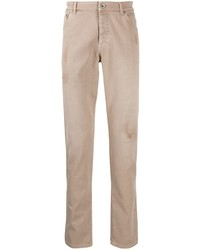 Brunello Cucinelli Distressed Slim Fit Jeans