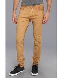 tan mens jeans - Jean Yu Beauty
