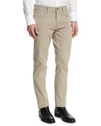 Straight fit solid wash stretch denim jeans tan medium 700403