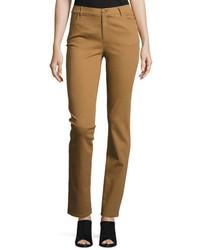 Lafayette 148 New York Thompson Slim Leg Atlas Stretch Denim Jeans Copper
