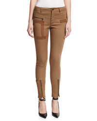 Tom Ford Military Style Jeans Wsuede Trim Moleskin