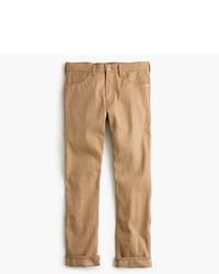 Wallace barnes straight fit jean in khaki selvedge denim medium 804567
