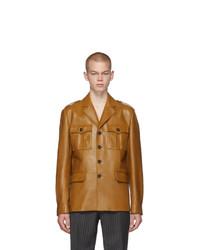 Prada Tan Leather Field Jacket
