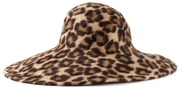 Philip Treacy Leopard Print Wide Brim Hat 59abca3043a