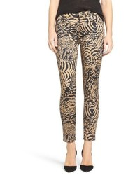 7 For All Mankind Leopard Print Ankle Skinny Jeans