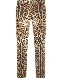 Dolce & Gabbana Leopard Print Skinny Jeans