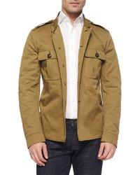 Burberry Brit Tarrant Knit Military Jacket Khaki