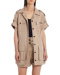 Dolce & Gabbana Short Sleeve Silk Cargo Jacket