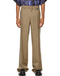 Vetements Brown Wide Leg Houndstooth Trousers