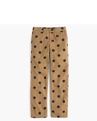 J.Crew Petite Boyfriend Chino Pant In Polka Dot