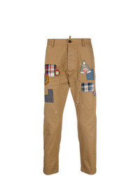 DSQUARED2 Cropped Badge Chinos