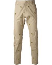 Dsquared2 banana print chino trousers medium 206168