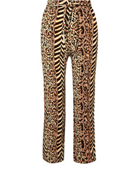 Nanushka Ed Printed Crinkled Voile Straight Leg Pants