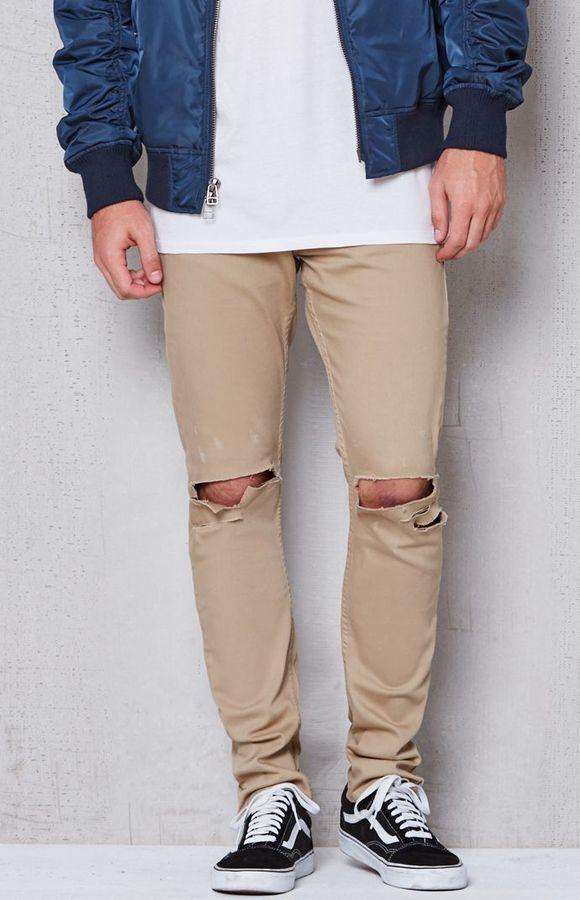How to wear skinny khaki jeans