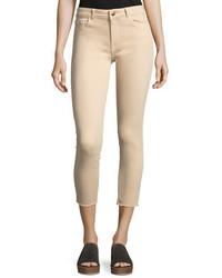 Premium denim florence mid rise skinny crop jeans beige medium 3768058