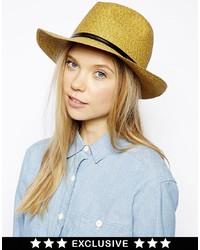 Catarzi To Asos Borcellino Straw Hat With Leather Trim