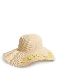 Cest la vie floppy straw hat beige medium 4014940