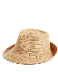 Eric Javits Mustique Packable Squishee Fedora Beige