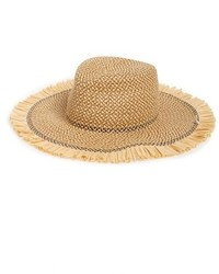 Eric Javits Havana Packable Squishee Straw Hat Beige