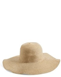 Junior Floppy Straw Look Hat Beige