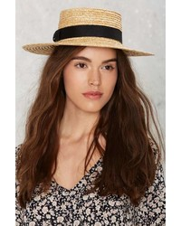 Factory Lack Of Color The Spencer Straw Boater Hat