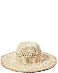 Ralph Lauren Lauren Contrast Brim Straw Hat