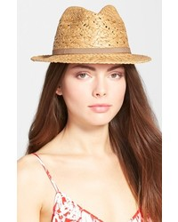 Lucky Brand Mixed Weave Straw Fedora