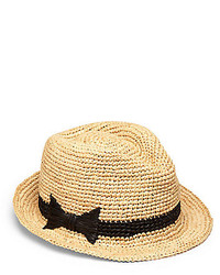 Kate Spade New York Packable Straw Fedora
