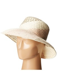 BCBGMAXAZRIA Oversized Straw Bucket Hat Caps