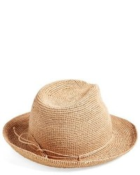 Raffia crochet packable sun hat grey medium 533870
