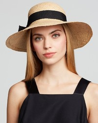Aqua Ribbon Bow Straw Hat Bloomingdales