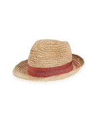 Lola Hats Tarboush Azure Raffia Hat