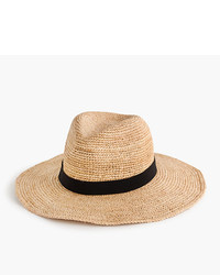 J.Crew Wide Brim Packable Straw Hat