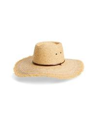 Frye Wide Brim Straw Hat