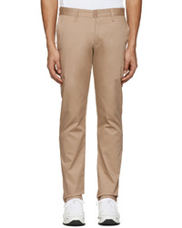 Naked & Famous Denim Beige Slim Chino Trousers