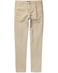 Incotex Chinolino Slim Fit Linen And Cotton Blend Twill Chinos