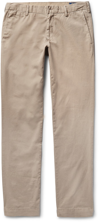 26ba119c1 ... Khaki Twill Chinos Polo Ralph Lauren Newport Slim Fit Pima Cotton Twill  Chinos ...