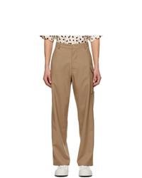 Marni Khaki Wool Cargo Pants