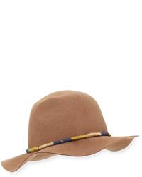 San Diego Hat Company Bracelet Trim Felt Fedora Hat Camel