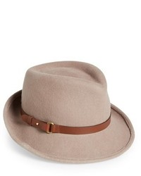 Classic wool fedora beige medium 817057