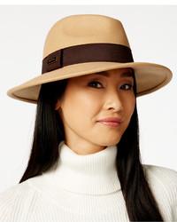Calvin Klein Faux Tortoise Logo Wool Felt Panama Hat