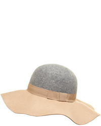 Dorothy Perkins Grey And Camel Floppy Hat