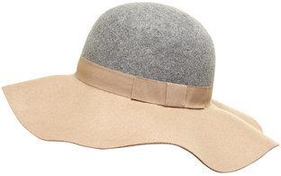 Dorothy Perkins Grey And Camel Floppy Hat