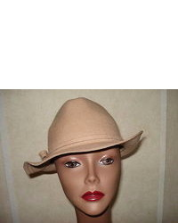 Nine West Hat Brown Safari Bush Felt 100% Wool Bow Winter Nwt