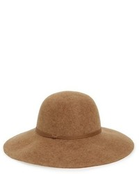 Hinge Floppy Wool Hat Black