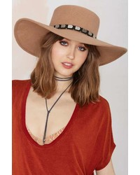 Nasty Gal Janelle Boater Hat Camel