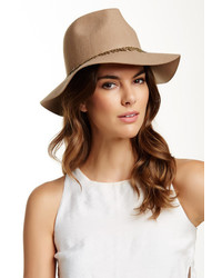 David & Young Leaf Paillettes Wool Felt Panama Hat