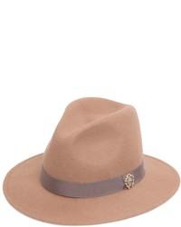 Roberto Cavalli Wool Felt Brim Hat W Metal Logo